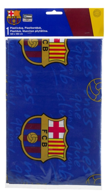 FC Barcelona Table Cloth X Cm Birthday Party Offical - Barcelona fc table